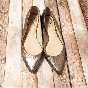 Vince Camuto   Alley Studded Flats Silver Steel 7